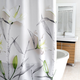 Lillies Fabric Shower Curtain