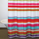 Candy Stripe Fabric Shower Curtain