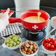 Swiss Cross Ceramic 9-Piece Cheese Fondue Set