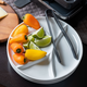Swiss Cross Meat Fondue Plate - Round
