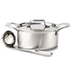 All-Clad D5 Brushed Stainless Steel 3Qt Soup Pot with Ladle