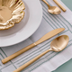 Arezzo Brushed Gold 18/10 20 Piece Cutlery Set