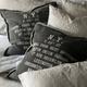 New York Heavy Canvas Cushion Black