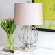 Metal Nickel Table Lamp