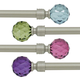 Crystal Ball Curtain Rod Set