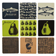 Assorted Square Cork Trivets Collection