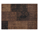 Patchwork Rug Brown Leather