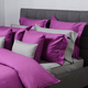 Chocolate and Orchid Swiss Dot Bedding Accessories