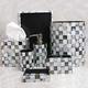 Checkered Marble Bath Accessories