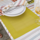 Bordered Square Vinyl Placemat