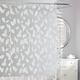 Harvest Leaf White Vinyl Shower Curtain