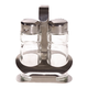 Cuisinox Salt & Pepper Shakers With Caddy