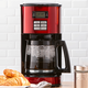 12-Cup Programmable Coffee Maker in Red by Hamilton Beach