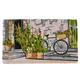 Bicycle on Stoop Doormat