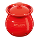 Staub Red Ceramic Garlic Keeper With Lid