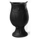 Benoni Small Black Owl Vase