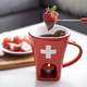 Swiss Cross Chocolate Fondue Set