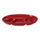 Swiss Cross Oval Fondue Plate Red