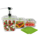 Foodsaver Fresh Container 3-Piece Bundle + 2 Trays
