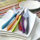 Set of 6 Mixed Colours Steak Knives by Amefa