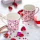 Hearts Set of 2 Pink Mugs
