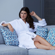 Cotton Velour Plush Robe