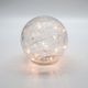 Led Sphere Crackle Glass Light