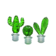 Set of Three Cactus Bottle Toppers by Torre & Tagus