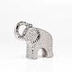 Bold Hammered Ceramic Elephant 6.5