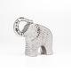 Bold Hammered Ceramic Elephant 8