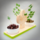 Wooden Picks with Holder