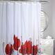 Poppy Fields Fabric Shower Curtain