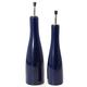 Bia Blue Oil and Vinegar Bottle