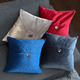Velvet Glow Cushion with Button