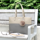 Bellezza Two Tone Tote Bag by Holiday Group
