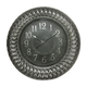 Clock Antique Silver Finish by Standa Home Furnishings