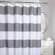 Rail Stripe Fabric Shower Curtain