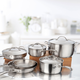 Design Pro 10-Piece Cookware Set by CL Cuisiluxe