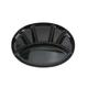 Swiss Cross Oval Fondue Plate Black