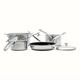 Ricardo Stainless Steel 7-Piece 3-Ply Cookware Set
