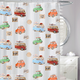 On The Road Vinyl Shower Curtain