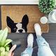 Peeking Dog Doormat