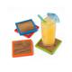 Set of 4 Wood Square Coasters by Final Touch