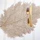 Metallic Leaf PVC Placemat