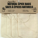 Set of 4 Cotton Spice Bags