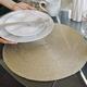 Metallic Round Placemat
