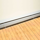 Curtain protector for electric baseboard/heater