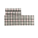 Black Tartan Flannel Sheet Set