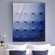 Blue Octagons Painting by Adlan Kaezar