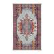 Medallion Carpet 2' x 4' - SilverBlue